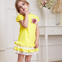 Kid wear baby frock designs cute girl fashion dress gril new dress for party fancy dresses for baby girl