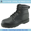 Goodyear welted leather upper rubber sole work safety shoes for men