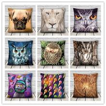 chinese supplier OEM custom low MOQ 3d print animal icecream fullprint decorative cushion cover