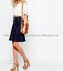 Warehouse High-waist Ladies Casual Denim A-Line Knee Skirt