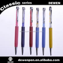 crystal pen diamond metal pen metal ball pen for touch screen