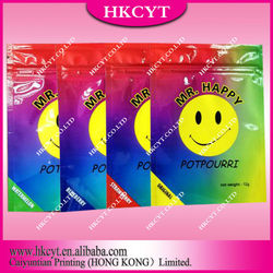 Mr happy herbal incense potpourri bag for sale/mini ziplock bag
