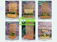 Home & Garden Supplies Buildings>>Fencing Trellis & Gates>>Wooden Pine Fir Lattice Grid Flower Pots Planters decoration