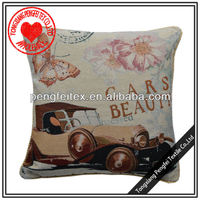 Butterfly and car pattern home textile cushion cover india