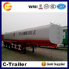 3 axles 50000cbm liquid tanker semi trailer