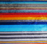 rainbow colored print fabric for blanket