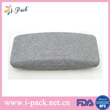 Italy classical jean cloth metal eyeglass case manufacturer in China