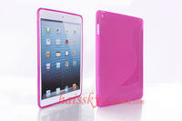 for ipad 5 tpu case covers with S shape