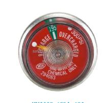Bourdon tube type spring Pressure gauge for fire extinguisher