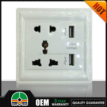 USA American style dual USB port wall mounted colorful sockets and adapter ce approve 13a