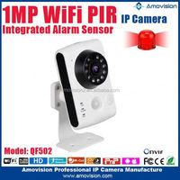 QF502 alarm pir camera small wireless alarm pir camera ip 720p pt ip alarm pir camera