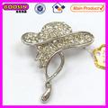 Nuevo diseño de moda de diamantes de imitación señora sombrero forma broche pines #5248