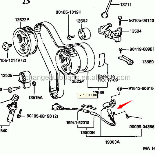 Watch together with Wiring Diagram For Knock Sensor On 1996 Toyota Taa as well Knock Sensor Location On Toyota Ta a 2006 likewise 95 Toyota 4runner Fuel Pump Wiring Diagram also Honda Element Knock Sensor Location. on 1995 toyota t100 fuse box diagram