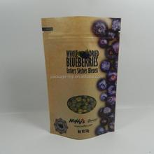 plastic brown flat kraft snack food packaging paper bags with window