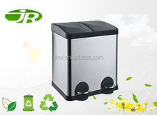 indoor recycle bin garbage can 2 compartments