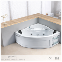 Corner whirlpool 2 person jetted bathtubs