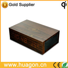 2013 new arrrival Wooden bluetooth Speaker wireless contral alarm clock+music display (color according your needs)