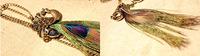 Мода Павлин Кулон перо длинное ожерелье ретро свитер цепи для женщины