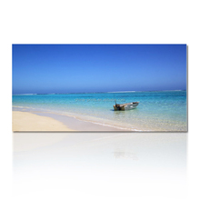 Beach Boat Canvas Art Print /Seascape Home Decor Wall art /Landscape Wall Decor Fine Art
