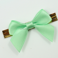 craft satin ribbon bow /gift packing bow with twist tie