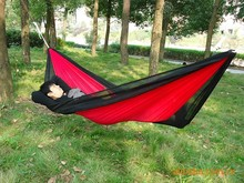 2 Person Folding Nylon Parachute Portable Outdoor Camping Hammock