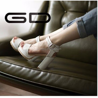 European new design high heels sandals women fashion leather female sandals in the summer selling the European and American