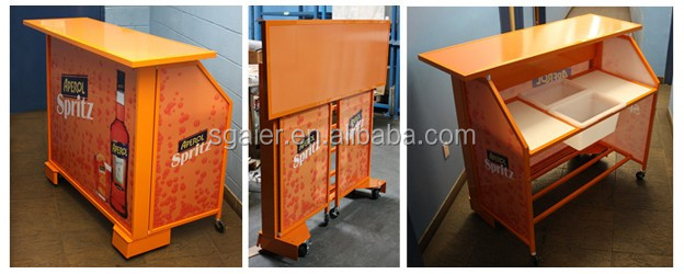 뜨거운 판매 RGB LED 빛 접이식 바 카운터 책상 및 의자