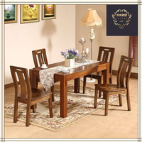high grade wood furniture 4 seater wood dining table