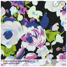 lifeng factory supply printing cotton plain twill satin fabric textile