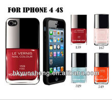 Custom you Name on nail polish case /Cover for iphone4/4s