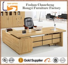 Hot selling black oak new design MDF office executive table pictures