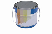 5L round metal chemical paint ant tin pail with handle tripletite