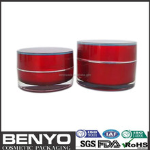 30G,50G various sizes wholesale new arrival acrylic red plastic jar
