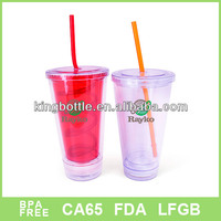 Shaker LED design attactive light up bright tumbler with straw