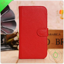 Luxury Deluxe Red Stand wallet leather case for samsung galaxy s4 i9500 credit card book