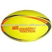 fluorescent rugby ball