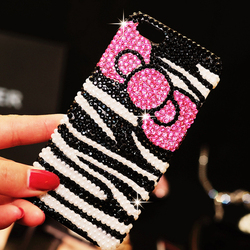 Luxury Bling Bling Hard Phone Case for iPhone 6 New Fashionable Bowknot Diamond Back Cover