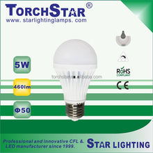 50% energy saving LED light bulb comparing to CFL lightings