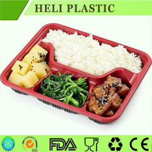 Disposable plastic fast food box/container/tray