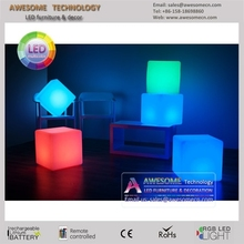 2014 new invention color changing rechargable led cube,led cube light for bar,cafe,garden,home decoration