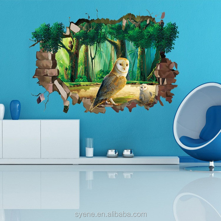 Cartoon Kids 3d Wall Sticker Printable Wall Murals Decals Birds