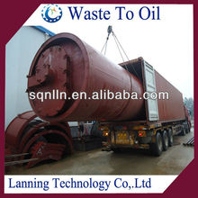 CONTINUOUS Waste Tyre Pyrolysis Plant with high oil output