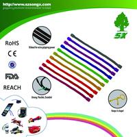Gear Silicone Cable Tie Reusable Rubber Gear Twist Tie