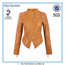 Leather jacket woman plus size wholesale cheap china clothing