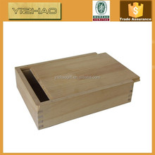 Custom wood box sliding lid,unfinished wood box with sliding lid