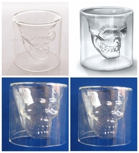 A lovely glass mug for your favourite drink: latte, hot chocolate !!!! Floral Glass Cup , 75ml Skull Head beer glass mug