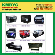 2015 high professional a3 size hot sale model uv flatbed printers for metal product metal pen inkjet printing
