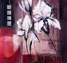 Handmade abstract canvas flower oil painting