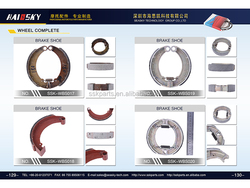 HAISSKY high quality motorcycle brake shoe bajaj pulsar from China manufacturers