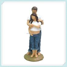 Polyresin Pregnant Bride Wedding Cake Topper Figurine
